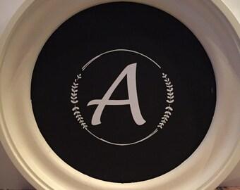 Letter inside leaf circle ***sticker only***