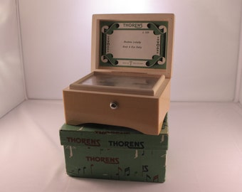 Vintage Thorens Music Box Brahms Lullaby & Rock a bye Baby A228 *needs fixing