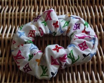 """hair scrunchies """"LV"""" fabric"""