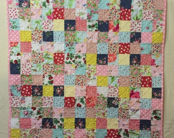 Baby girl quilt, baby quilt, lap quilt, kids quilt, quilted throw