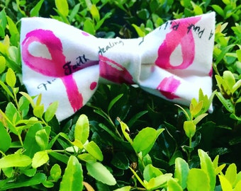 Breast Cancer Awareness Bow Tie