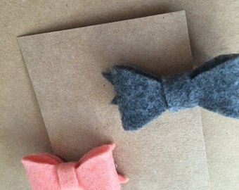 Mini Felt Bow Hair Clips