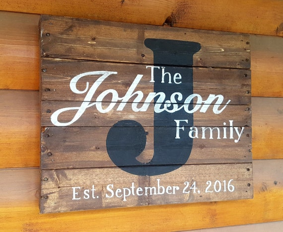 Hand Painted Wood Pallet Sign Family Name Sign