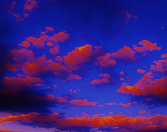 Landscape Print Wall Art, Landscape Photograph, Clouds
