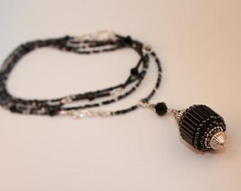 "Beaded Bead Convertible Necklace/Bracelet Set - ""Stardust"""