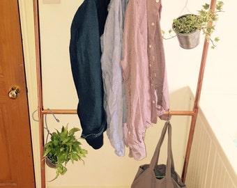 copper pipe clothes rail