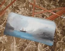 Shiver Me Timbers hand painted zipper bag, pencil case, makeup bag