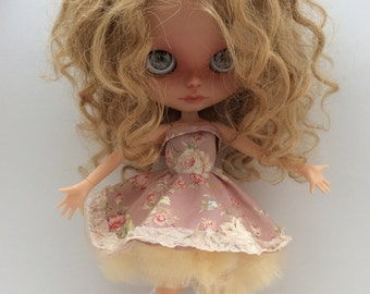 ooak Blythe doll dress / blythe dress with net underskirt / blythe doll outfit / clothes / for pure neemo s body or standard takara body