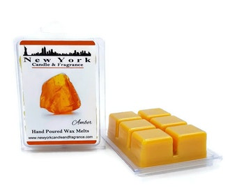 Amber Wax Melts -- HIGHLY Fragrant -- New York Candle & Fragrance