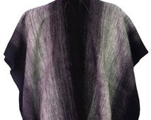PONCHO Men's sweater hoodie Alpaca wool jumper cape cloak handmade hipster, Gray Alpaca Poncho