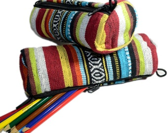 Tibetan Pattern School Pencil Case Makeup Case