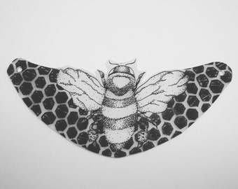 Hand painted, bee with honeycomb, pendants