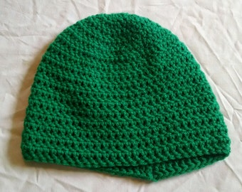 Green children's crochet hat