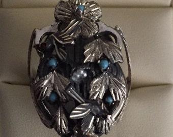 Handmade Silver Baroque Ring