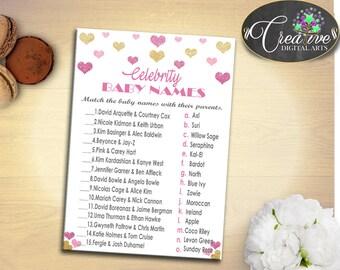 Baby Shower Glitter Kate Spade Inspired Katie Holmes Movies CELEBRITY BABY NAMES, Digital Print, Shower Activity, Shower Celebration - bsh01