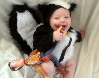 Baby/Toddler Costume-Skunk