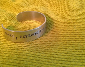 Anti Nigel Farage Bracelet. Hand Stamped and made to Order