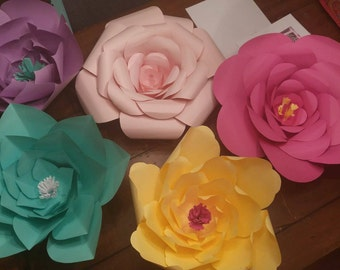 Paper Flowers Assorted Colors