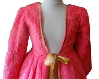 DOUBLE coat faux fur to accompany a princess dress 10 years costume pink