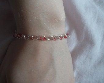 Red Bead Chain Bracelet