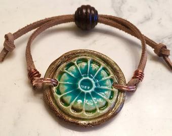Ceramic Clay Medallion bracelet