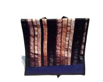 Black gold back large purple bag