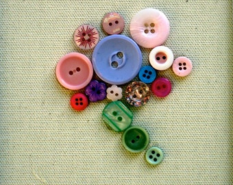Sweet Pea-Is part of a floral button series or each can be bought individually
