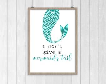Mermaid's Tail Wall Print