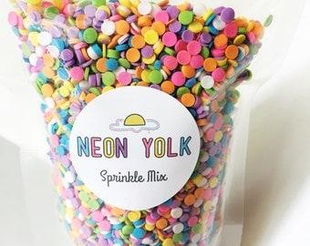 Edible Sprinkles - Classic confetti Sprinkles - 3 oz- Cake, cookie, cupcake decorations, sprinkle mix