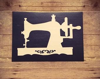 Vintage Sewing Machine Canvas Art
