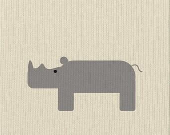Safari Rhino Print
