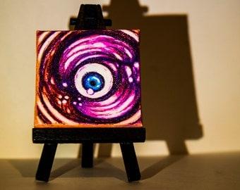 "Psychedelic Mini Canvas ""Eye Am Wanting"""