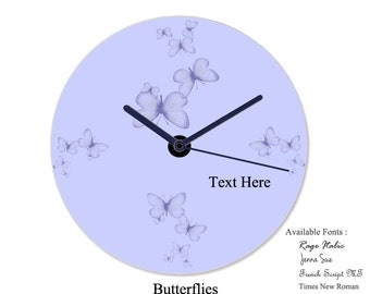 Personalized Wall Clock - Nature