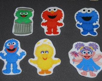 Felt Story Inspired by Sesame Street Characters - Felt Board - Travel Toys - Queit Time - Montessori - Flannel Story