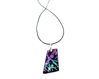 iridescent glass pendant