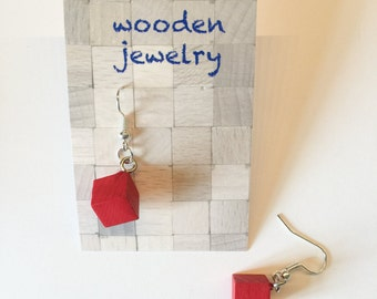 Wooden jewelry - earring m