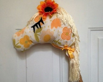 Sunflower Stick Horse