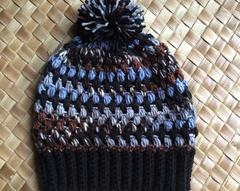 Puff Stitched Hat  with Pompom