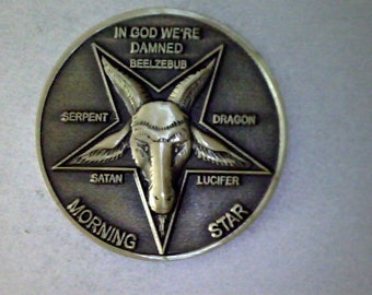 "LUCIFER MORNINGSTAR TV hit series 1  1/4"" brass coin"