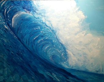 Your Wave, acrylic on 18x24 stretched canvas