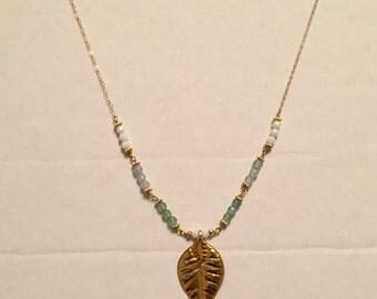 Vintage Leaf Necklace