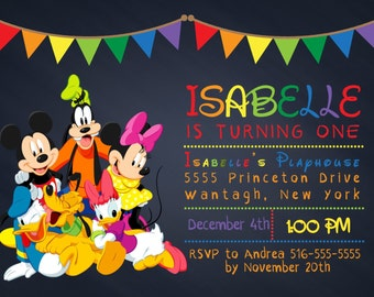 mickey mouse clubhouse invitations free