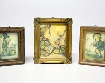 3 Vintage Hummel prints in list-Retro wall decoration