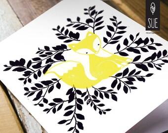 Fox – folded card A6