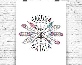 Art Print Hakuna Matata