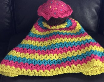 Cupcake Lovey Security Blanket