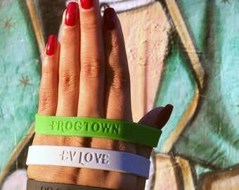 Frogtown EV Love Silicon Wristband Bracelet