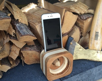 Acoustic iPhone 4.5, 6 Speaker for iPhone and iPhone 4, 5, 6 plus, wooden iPhone Speaker, wooden iPhone Dock