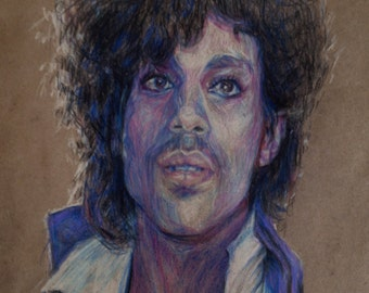Colored Pencil Prince Portrait Drawing