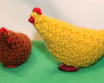 Chicken - hand knitted pure wool